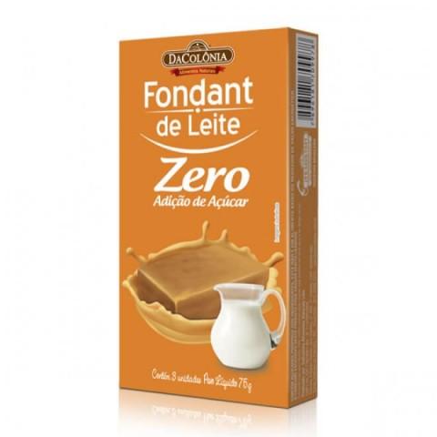 Fondant de Leite Zero Adição de Açúcar DaColônia 75g