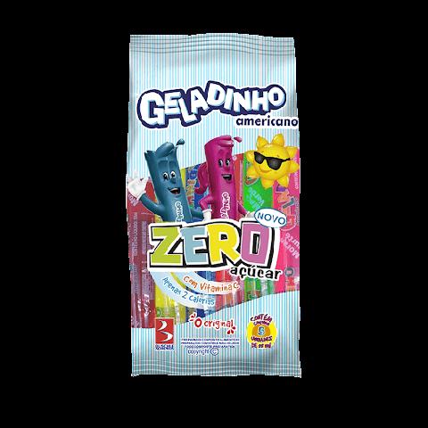 Geladinho Zero Açúcar Pacote com 5 Unidades 55mL