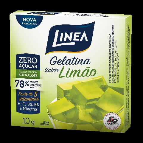 Gelatina Zero Açúcar Limão Linea 10g