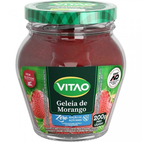 Geleia Zero Adição de Açúcar Morango Vitao 200g
