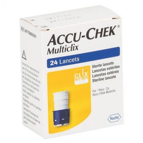 Lancetas Accu-Chek Multiclix Caixa com 24 unidades