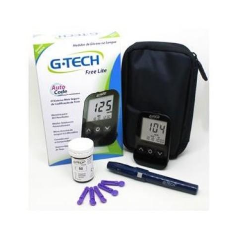 Medidor de Glicose G-Tech Lite (acompanha 10 tiras reagentes)