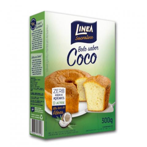 Mistura para Bolo Zero Adição de Açúcar Sabor Coco Linea 300g