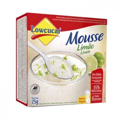 Mousse Zero Adição de Açúcar Sabor Limão Lowçucar 25g