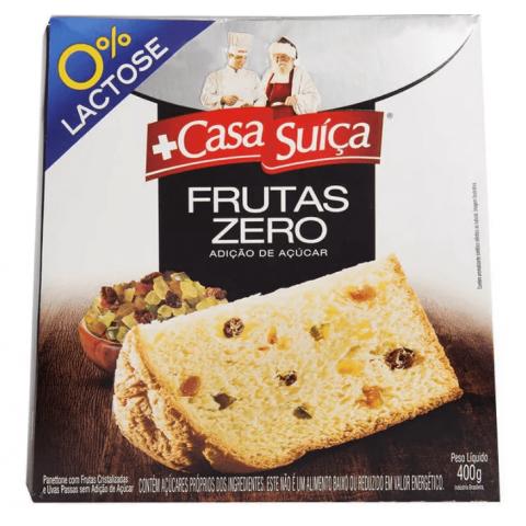 Panetone Zero Adição de Açúcar Frutas Casa Suíça 400g
