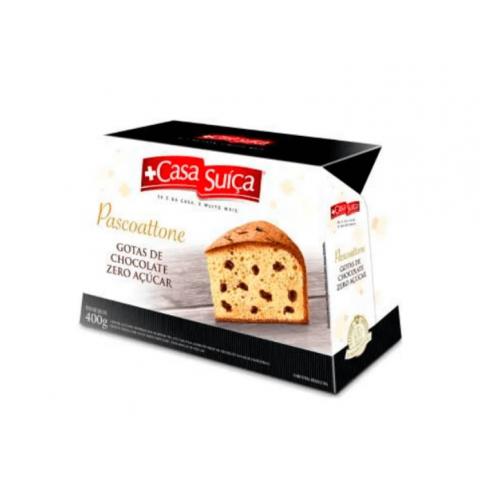 Pascoatone Zero Açúcar Gotas de Chocolate Casa Suíça 400g