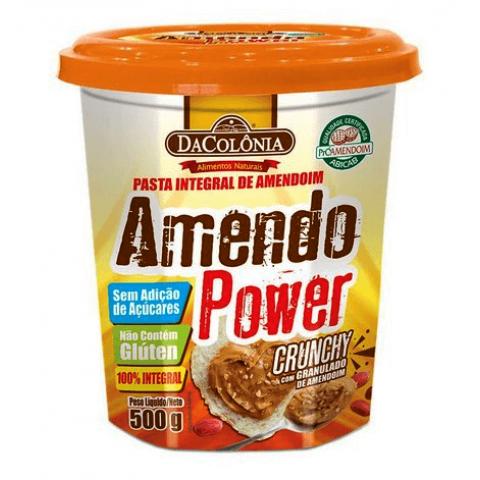 Pasta de Amendoim Integral Sem Adição de Açúcar Crunchy DaColônia 500g