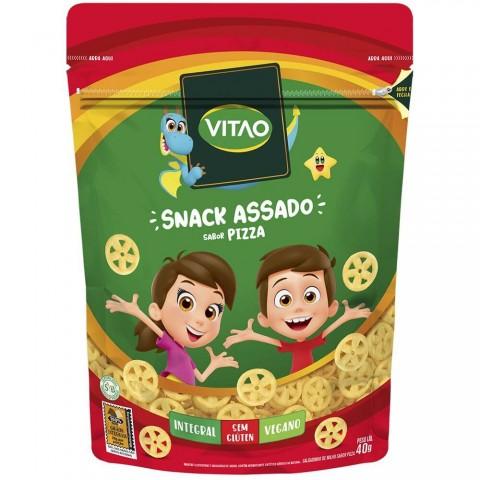 Salgadinho Integral Sem Glúten Vegano Pizza Vitao Kids 40g