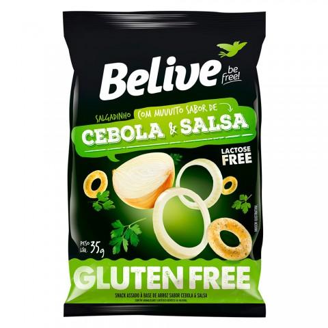 Salgadinho Belive Sem Glúten Sabor Cebola e Salsa 35g