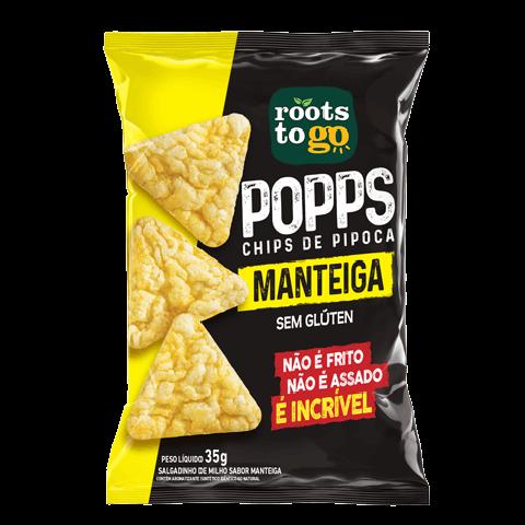 Popps Chips de Pipoca Sem Glúten Manteiga Roots To Go 35g