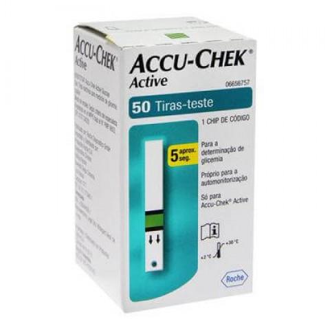 Tiras Accu-Chek Active Caixa com 50 Unidades Roche