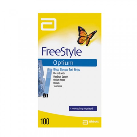 Tiras FreeStyle Optium Caixa com 100 Unidades Antiga Optium Xceed