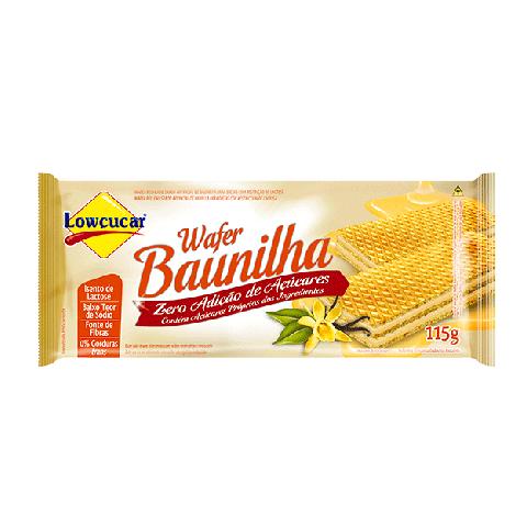 Wafer Baunilha Zero adição de Açúcar Lowçucar 115g