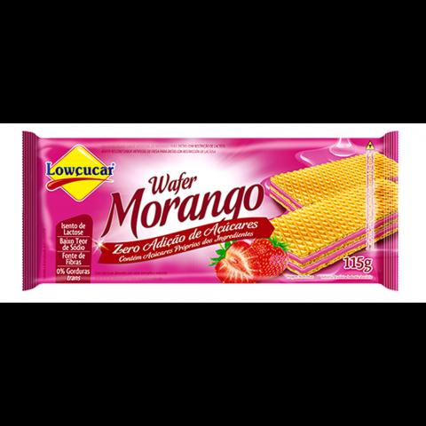 Wafer de Morango  Zero Açúcar Lowçucar 115g