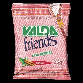 Bala Sem Açúcar Canela Valda Friends 25g