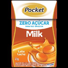Bala Zero Açúcar Sabor Leite Pocket Riclan 23g
