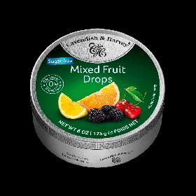 Bala Zero Açúcar Importada Frutas Sortidas Cavendish & Harvey Lata 175g