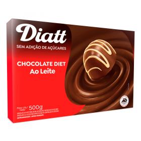Chocolate ao Leite Sem Adição de Açúcar Diatt 500g