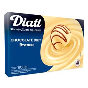 Chocolate Diet Branco Sem Adição de Açúcar Diatt 500g