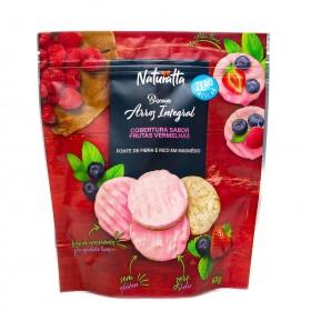 Biscoito de Arroz Integral com Frutas Vermelhas Zero Açúcar Naturatta 60g