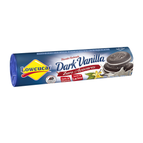 Biscoito Recheado Diet Sabor Baunilha Dark Lowçucar 120g