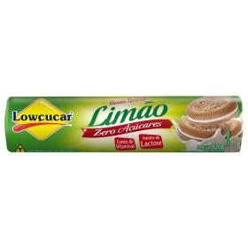 Biscoito Recheado Diet Sabor Limão Lowçucar 120g