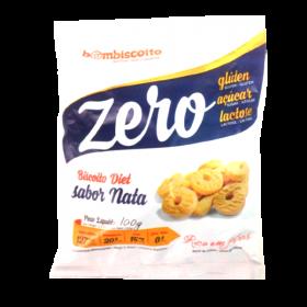 Biscoito Zero Açúcar Sabor Nata Bom Biscoito 100g