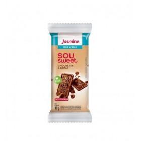 Biscoito Zero Açúcar Vegano Chocolate e Gotas Sou Sweet Jasmine 30g