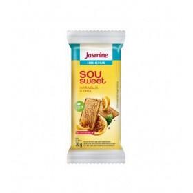 Biscoito Zero Açúcar Maracujá e Chia Sou Sweet Jasmine 30g