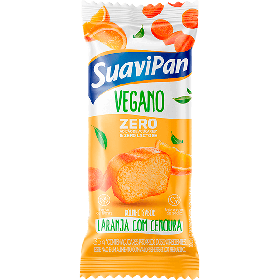 Bolinho Zero Adição de Açúcar Laranja com Cenoura Vegano Suavipan 35g