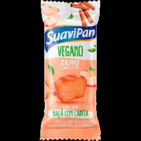 Bolinho Zero Adição de Açúcar Maça com Canela Vegano Suavipan 35g