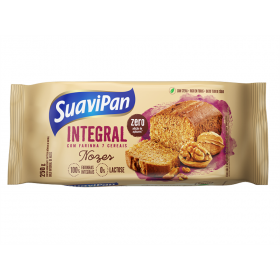 Bolo Integral  Zero Adição de Açúcar Sabor Nozes Suavipan 250g