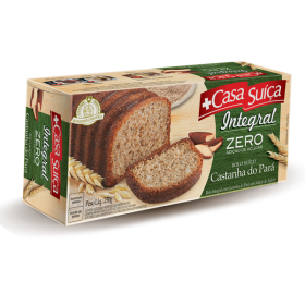 Bolo Zero Adição de Açúcar Integral Castanha do Pará Casa Suíça 250g