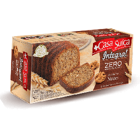 Bolo Zero Adição de Açúcar Integral Nozes Casa Suíça 250g