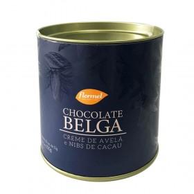 Bombom com Chocolate Belga Creme de Avelã e Nibs de Cacau Zero Adição de Açúcar Flormel 150g