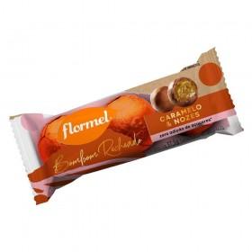 Bombom Recheado Zero Adição de Açúcar Chocolate ao Leite Caramelo e Nozes Flormel 37,5g