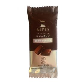 Chocolate Amargo Zero Açúcar Alpes Salware 25g