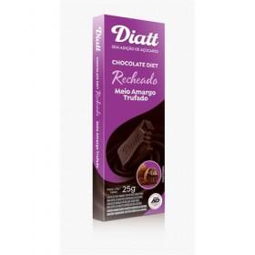 Chocolate Recheado Sem Adição de Açúcar Meio Amargo Trufado Diatt 25g
