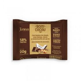 Doce Zero Adição de Açúcar Frutas com Chocolate ao Leite Bom Cacau Phinus 20g