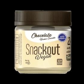Doce de Chocolate Branco Crocante Zero Adição de Açúcar Vegano Snackout 180g