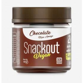 Doce de Chocolate Meio Amargo Zero Adição de Açúcar Vegano Snackout 180g