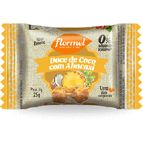 Doce de Coco com Abacaxi Zero Adição de Açúcar Flormel 20g