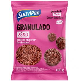 Granulado Zero Adição de Açúcar Vegano Chocolate Suavipan 100g