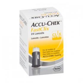 Lancetas Accu-Chek FastClix Caixa com 24 Unidades