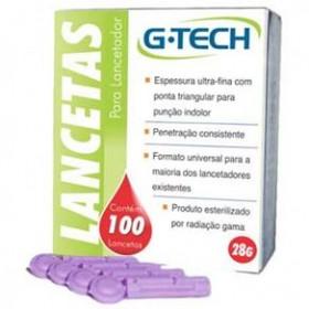 Lancetas para Punção Digital G Tech | Caixa de 100 unidades