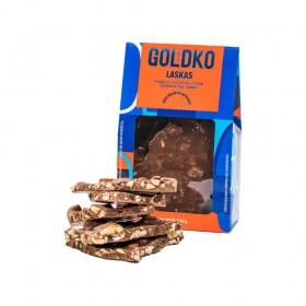 Chocolate ao Leite Zero Adição de Açúcar com Castanha de Caju e Banana GoldKo 150g
