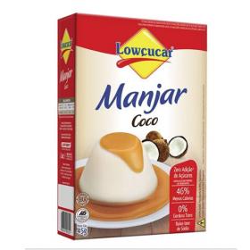 Manjar Zero Adição de Açúcar Sabor Coco Lowçucar 45g