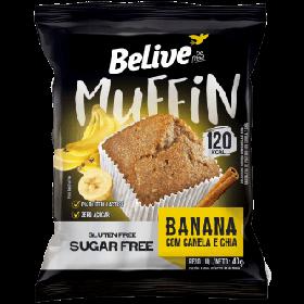 Muffin Zero Açúcar Banana com Canela e Chia Belive 40g - Validade: 18/12/2019