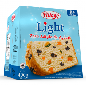 Panetone Zero Adição de Açúcar Frutas Light Village 400g