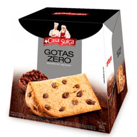 Panetone Zero Adição de Açúcar Gotas de Chocolate Casa Suíça 400g - Validade: 31/03/2020